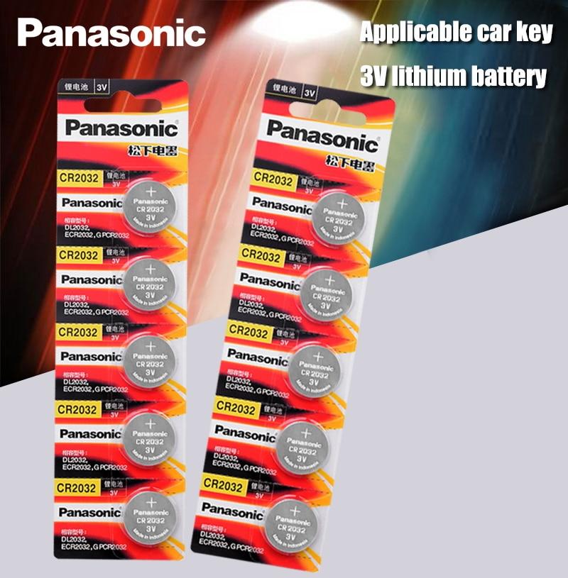 Литиевая батарейка Panasonic cr2032, 10 шт./лот, cr 2032, 3 в