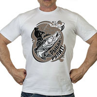 RUSSIAN RUSSIA t shirt BEST FISHERMAN T Shirts army military Men's Clothing