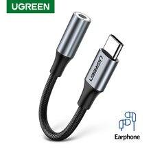 UGREEN Typ c zu 3,5 jack USB C zu 3,5mm Kopfhörer Adapter Audio AUX 3,5 MM Jack Konverter für HUAWEI P40 XIAOMI OnePlus 8 PRO