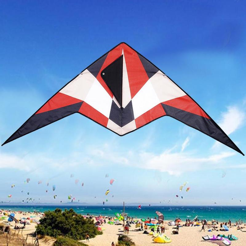 Armor Triangle Kite Outdoor Flying Toys For Children Kids Triangle Long Tail Polyester Kites With Control Bar And 30m Line