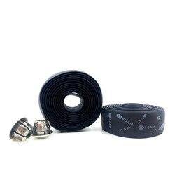 HOT!1pc New Wrap +Blue/Black Bar Plug Handle Belt Bike Bicycle Cycling Cork Handlebar Tape