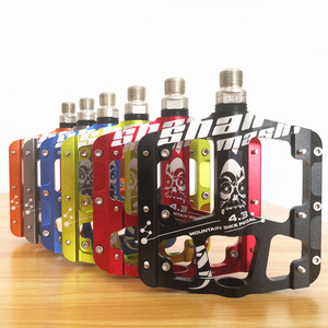 Image 1 - 2019New Ultra light and ultra thin 3 Bearings Pedals Aluminum alloy Mountain Bike MTB Anodizing Bicycle Pedal Road Bike Pedals