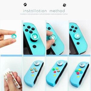 Image 5 - ABXY tuş Sticker Joystick düğmesi Thumb çubuk kavrama kap koruyucu kapak Nintendo anahtarı NS Joy con denetleyici renkli kılıf