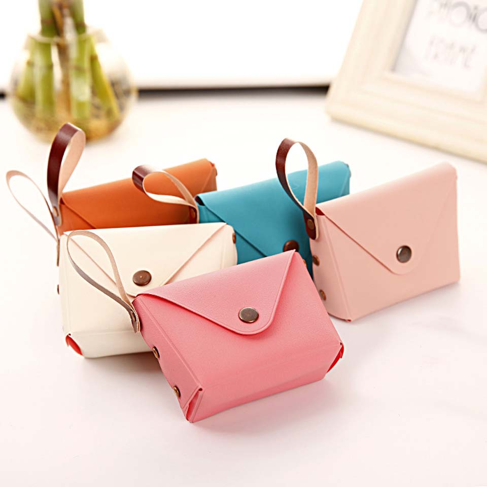 Fashion PU Leather Purse Candy Color Wallet Coin purse Card Holder Female Purse Wallets For Women Girl clutch bag handbag