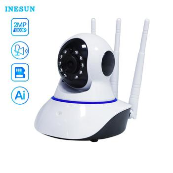 Inesun 1080P WiFi IP Camera Wireless Home Security  Surveillance Camera Two-Way Audio Pet Camera 2mp Baby Monitor Cloud Storage 1080p 2mp wireless indoor wifi surveillance camera two way audio cctv security ip camera home dome baby monitor support sd card