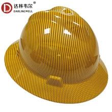 Darlingwell borda completa capacete de segurança de trabalho de construção capacete de fibra de carbono padrão ferroviário metalurgia mina boné atacado