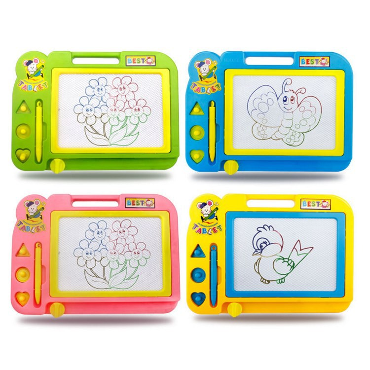 Kiss Baby Magnetic Drawing Board Children Medium Painted Graffiti Writing Board Color Early Childhood Educational