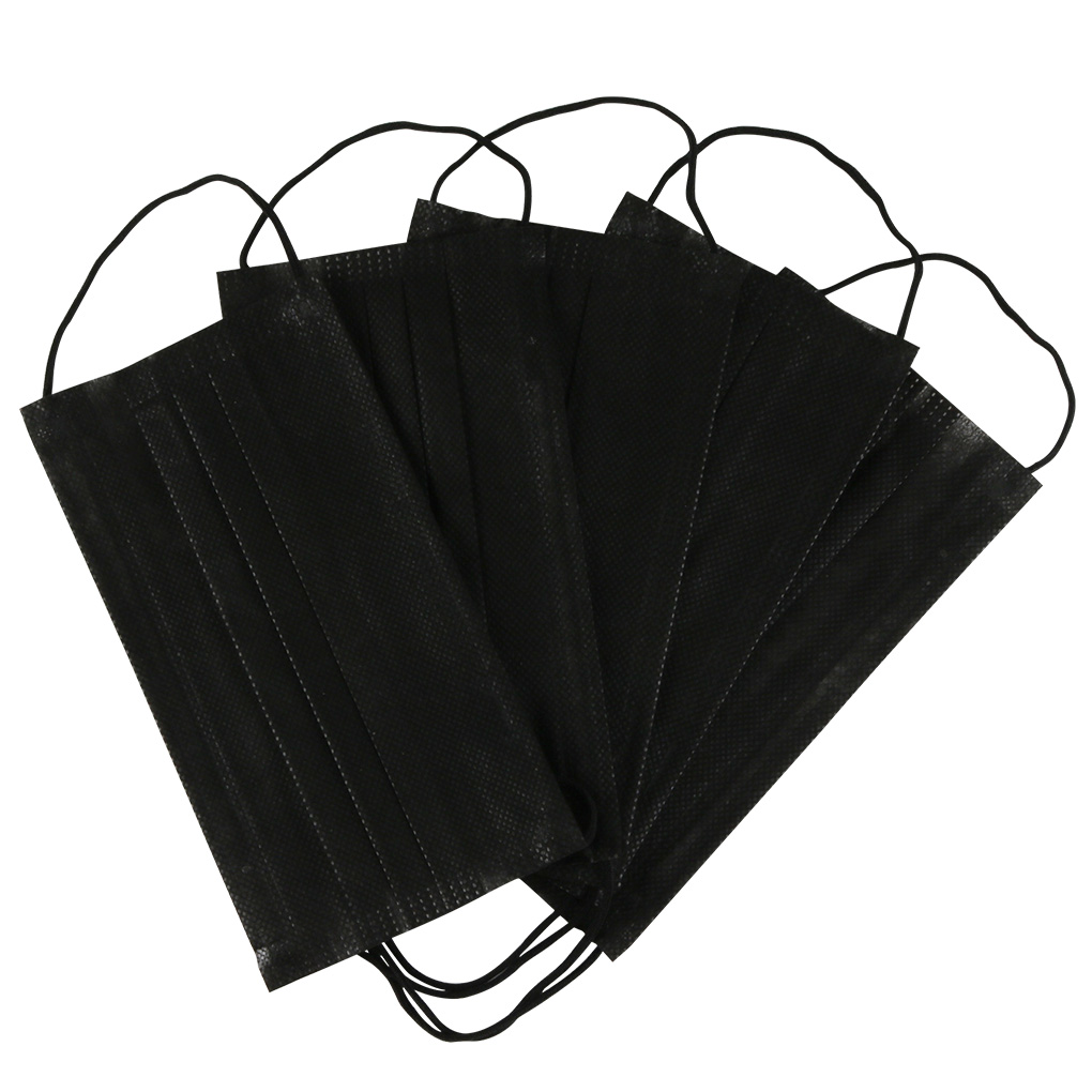 5/10/20/50/100Pcs Mouth Mask Disposable Black Cotton Mouth Face Mask Mask Anti-Dust Mask Earloop Activated