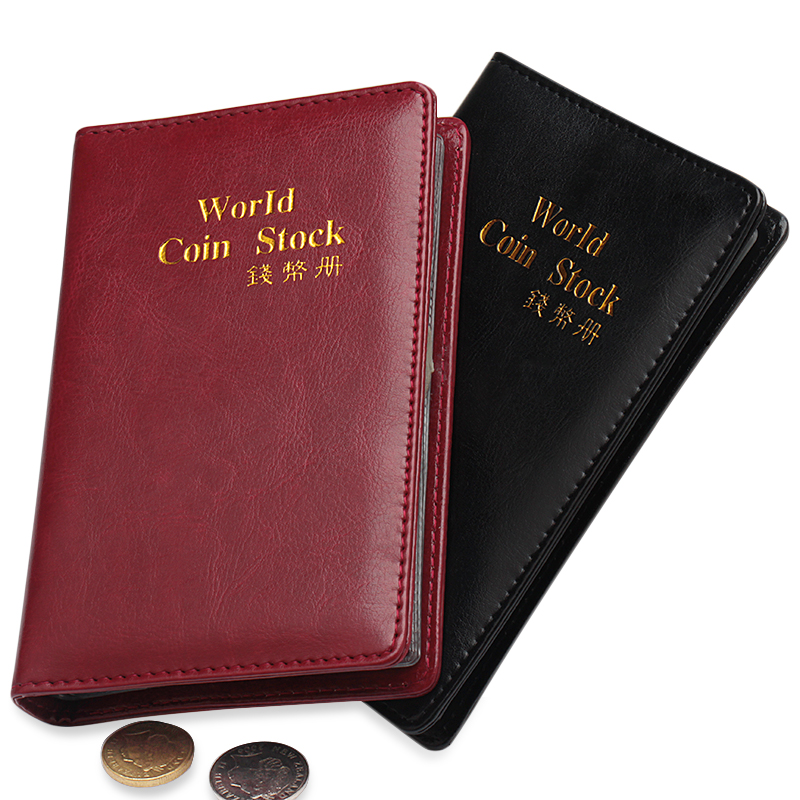 2020 New Edition Large Capacity 10 Pages 180 Pockets Pu Leather World Coin Stock Waterproof Album Coin Collection Book