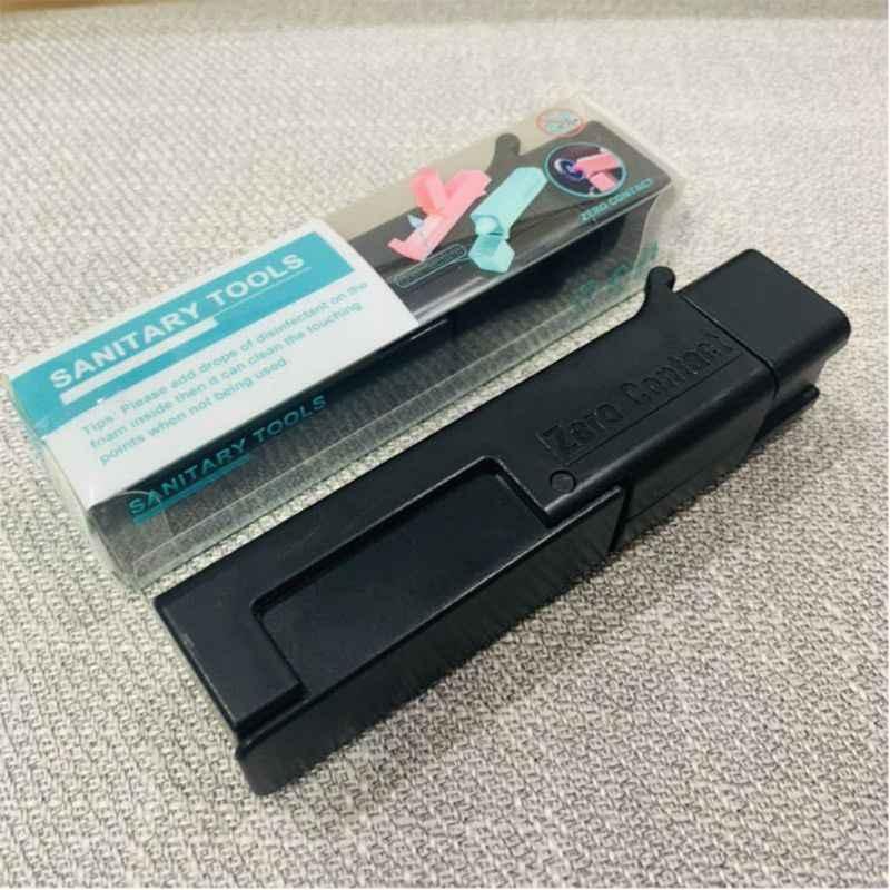 Mini Handheld Vermeiden Kontakt Sanitär Werkzeug Offene Tür Presse Aufzug Taste