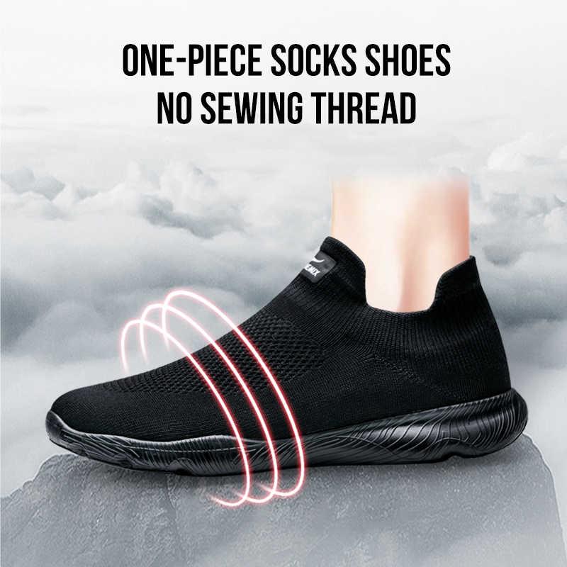 ONEMIX Retro erkekler Sneakers hafif nefes dantel-up yetişkin erkek açık atletik rahat eğitim koşu koşu ayakkabıları