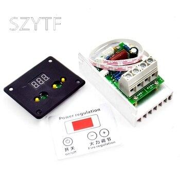 Regulador digital electrónico de alta potencia con tiristor de 10000 W, atenuación, regulación de velocidad, regulación de temperatura