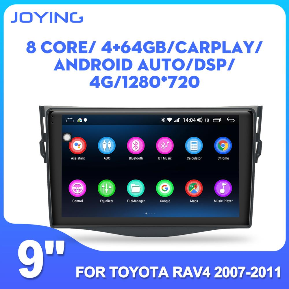 9 inch car radio player Android 8.1 multimedia player DSP stereo GPS for Toyota RAV4 2006-2012 support DVR/reverse camera/SWC/BT image