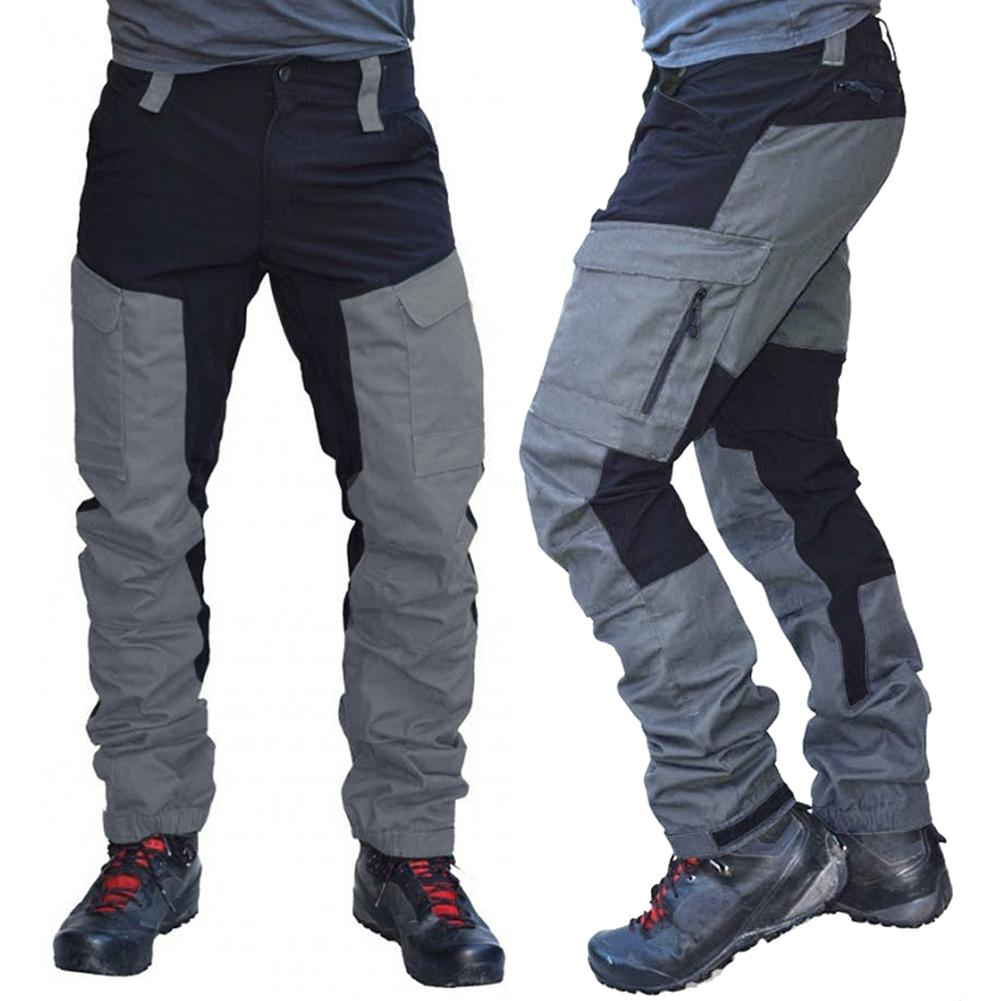 Брюки карго мужские с множеством карманов, модные спортивные длинные штаны, рабочие штаны, тактические быстросохнущие штаны для работы|Повседневные брюки|   | АлиЭкспресс