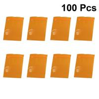 100pcs Ziplock Pouch Plastic Safe Storage Pouch Sealing Bag For Food Orange Plastic Bags