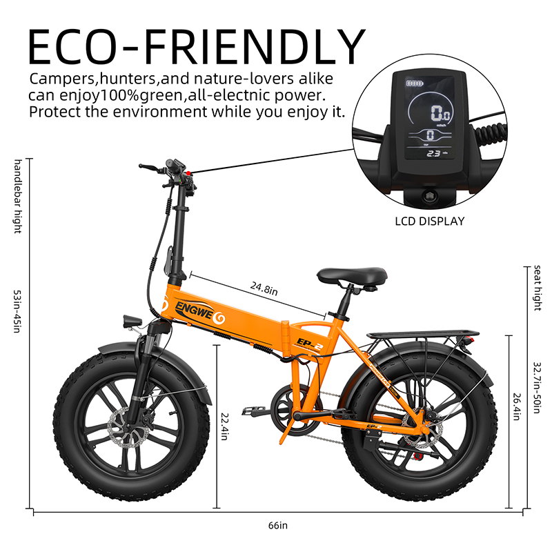 Electric bike 20*4.0inch Aluminum Foldable electric Bicycle 48V12A 500W 38KM/H 7Speed Powerful Fat Tire bike Mountain snow ebike 4