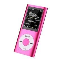 Iceice 1.8 Polegada mp3 player música jogando com rádio fm fone de ouvido vídeo 16gb 32 64gb toque tom metal tf micro memória sd