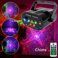 Chims Stage Light RGB Disco Laser 96 Pattern Laser Light DJ Led Lights Colorful Party Projector Laser Christmas Xmas Music Bar