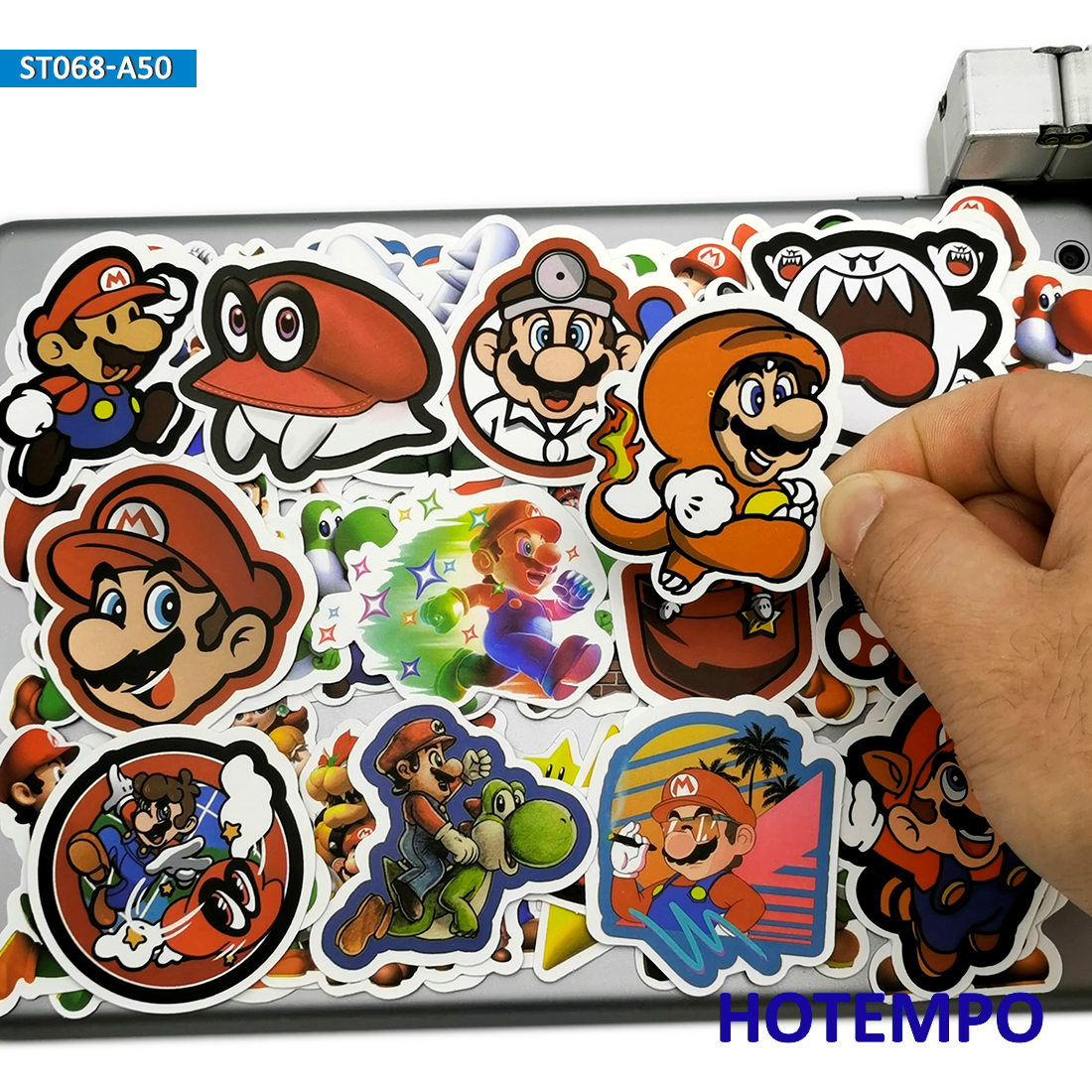 50pcs Anime Super Hero Mario Luigi Game Stickers Toys For Mobile Phone Laptop Luggage Suitcase Skateboard Cartoon Decal Stickers