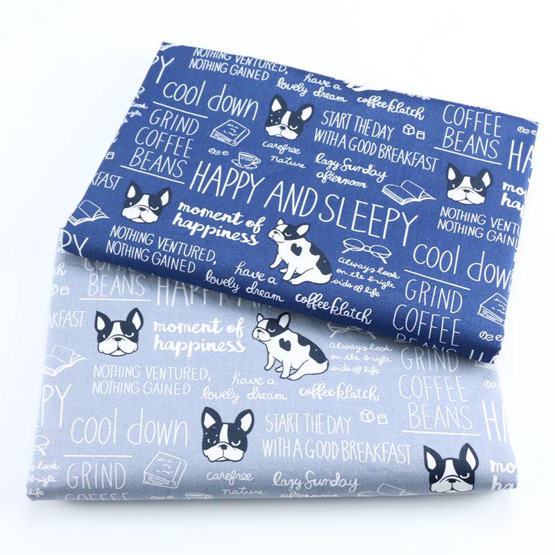 Новый мультфильм собака рыба кошки хлопчатобумажная ткань diy швейный домашний текстиль постельное белье детское платье DIY Ручная работа тк...