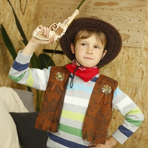 Image 4 - Robotimeปืนบล็อกอาคารDIY Revolver,ScatteยางBand Bulletไม้ยอดนิยมของขวัญของเล่นสำหรับเด็กผู้ใหญ่