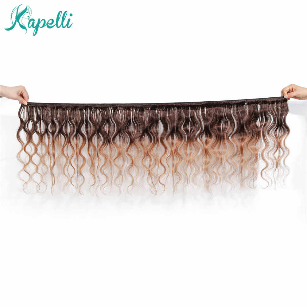 Indian Body Wave Hair Colored Bundles With Closure Ombre Human Hair Bundles With Closure Blonde Bundles With Closure Non Remy