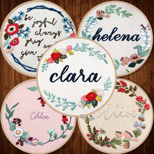 15cm DIY  Flowers Ribbon Embroidery Set for Beginner  Handcraft Cross stitch Needlework   Embroidery Hoop Home Decor