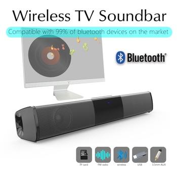 Columna de altavoz portátil HIFI BS-28A 2x5W, barra de sonido estéreo con Bluetooth, soporte para tarjeta TF y USB para TV y PC, para cine en casa