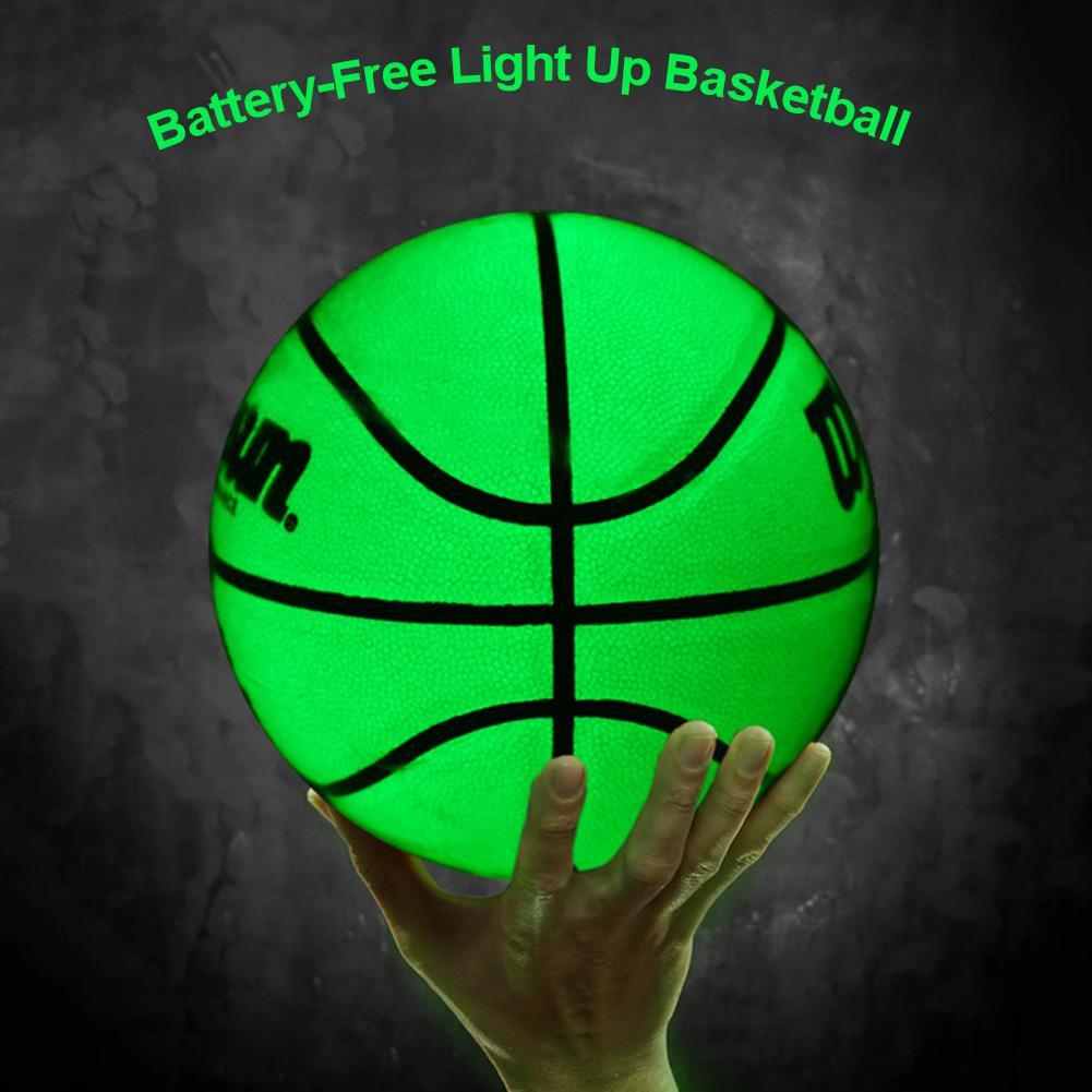 Sports Basketball Luminous Basketball Long Service Life Light Ball Wear-Resistant Glowing Basketball For Sport Men