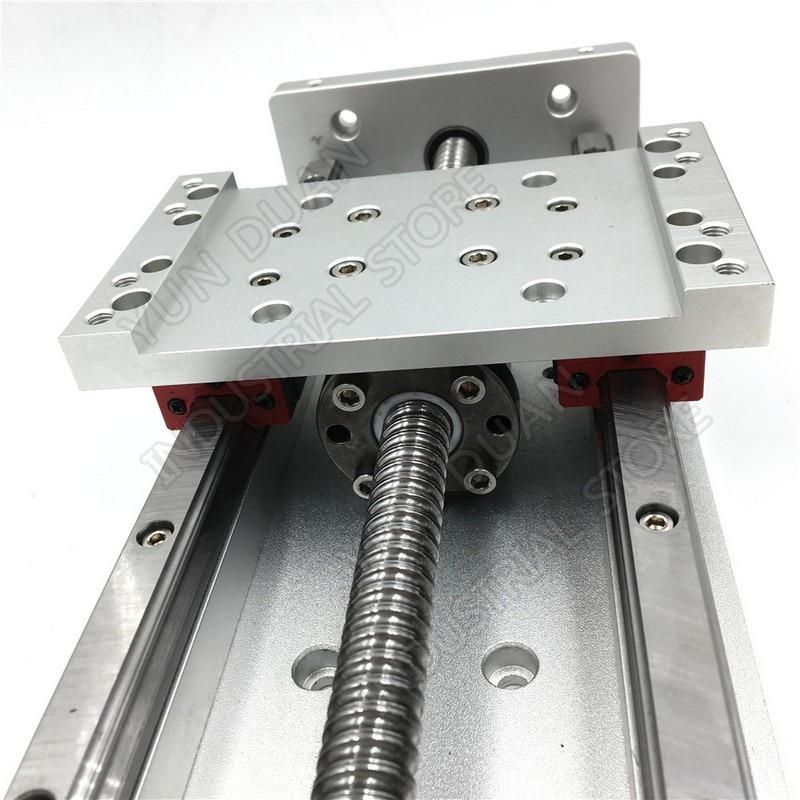 """12 """"300 MM course XYZ axe croix électrique Table coulissante glissière linéaire étape SFU1605 vis à billes HG15 guide plate-forme CNC forage"""