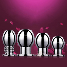 1Pcs Metal Hollow Anal Plug Tunnel Butt Plug Sex Toys Dildo Anal Extender Prostate Massager Anal Dilator Sex Toys For Woman Men