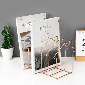 Image 4 - Estante de metal livros suporte estande organizador de mesa armazenamento titular criativo estilo arquivo titular l29k