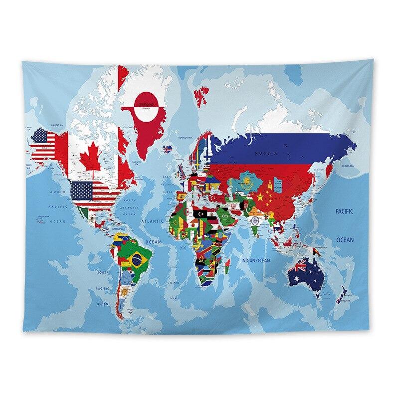 Скандинавские лучшие продажи карта мира студенческое спальное украшение гобелен карта мира фон карта
