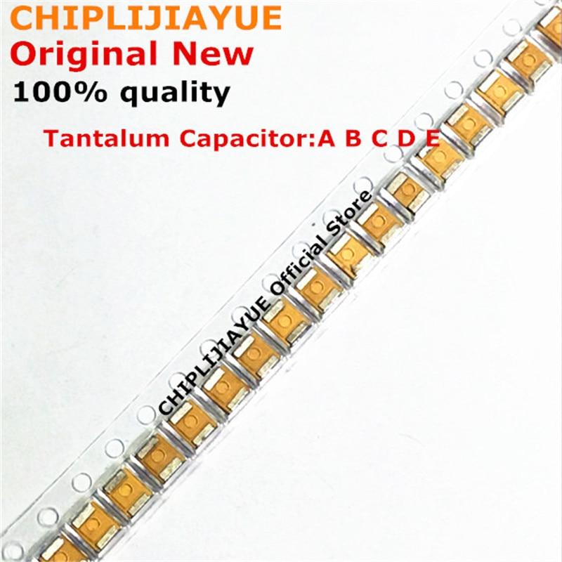 100 шт. танталовый конденсатор с алюминиевой крышкой, Тип B 227 476 107 475 106 105 226 4V 6,3 V 16V, алюминиевая крышка, 25В 35В с алюминиевой крышкой, 50В 1 мкФ 220 м...