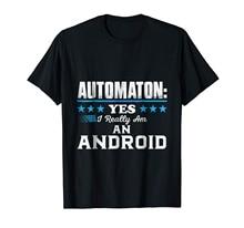 브랜드 남자 셔츠 automaton 나는 정말 안드로이드 티셔츠입니다