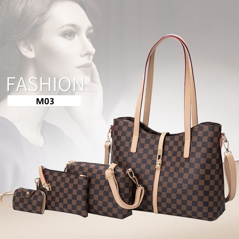MODITIN High Quality Woman Bags Total  4pcs Per Set Purse Hand Bags Fashion Shoulder Bag Elegant Cross Body Bags For Girls 2019