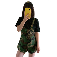 2019 New Woman Woodland overall Skirt Camouflage suspender skirt adjustable strips