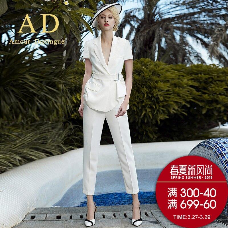 Women's Office Suits Set Professional Female Business Lady Suit Plus Size White Blazer Pant Designer Tailor Made 2019 Free Ship