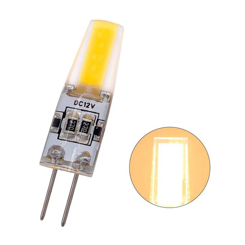 100 piezas al por mayor regulable Mini G4 LED COB lámpara 6W bombilla DC 12V vela luces de silicona reemplazar 30W 40W halógeno para candelabro - 4