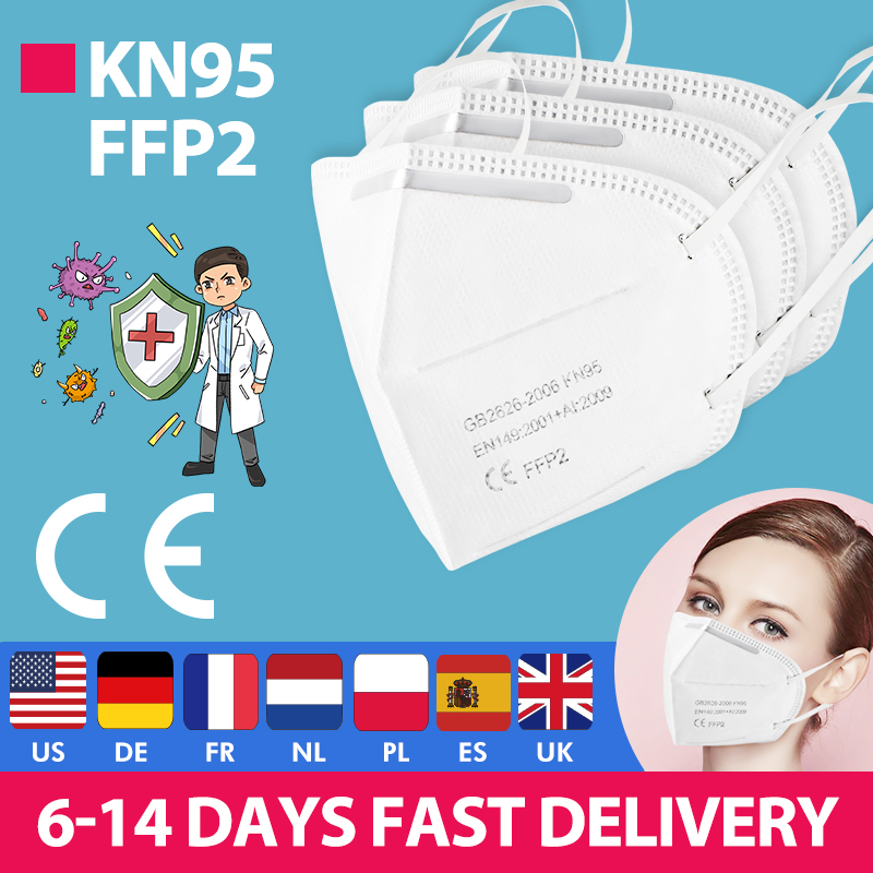 Fast Delivery Hot Sale KN95 Fast Send Dustproof Anti-fog And Breathable Face Masks N95 Mask 95% Filtration Features As KF94 FFP2