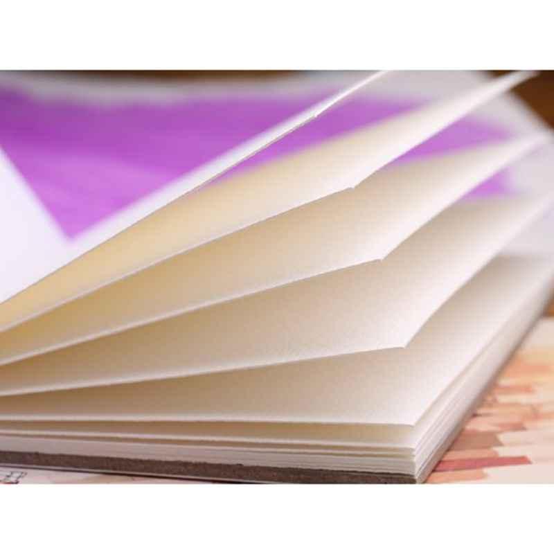 12 แผ่น A5/A6 สีน้ำ Sketchbook กระดาษสำหรับวาดภาพวาดดินสอสี Art หนังสืออุปกรณ์