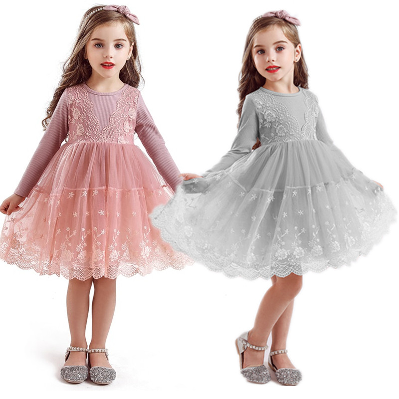 Winter Long Sleeve Girl Dress Princess Party Baby Children Clothing Kids Dresses for Girls Casual Wear Clothes 3 4 5 6 7 8 Years 1