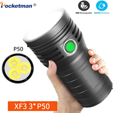 brightest flashlight ever XF small steel cannon LED Torch Camping lights with Large battery capacity Long usage time Recharge