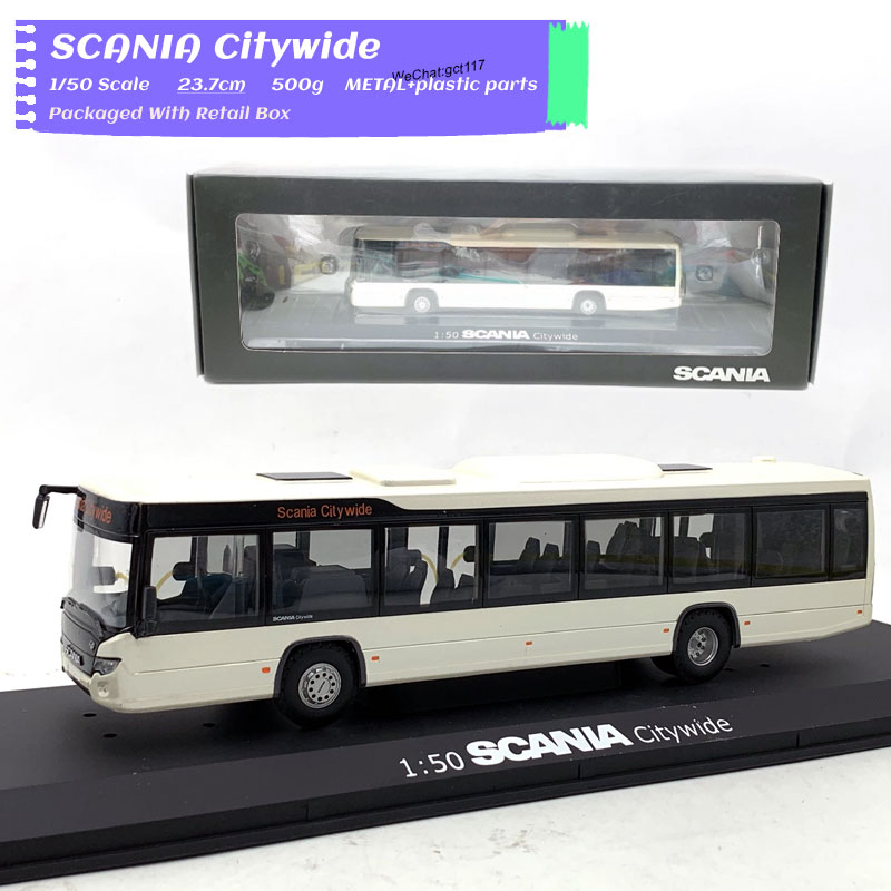 1/50 Scale Car Model Toys SCANIA Citywide Bus 23.7cm Length Diecast Metal Car Model Toy For Gift,Kids,Collection,Decoration