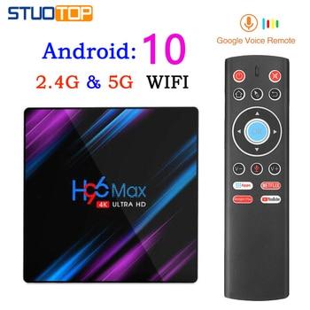 H96 max Smart Tv Box Android 10.0 4g 32g 64g mini Set Top Box 4K 3D 2gb 16gb Quad Core media player