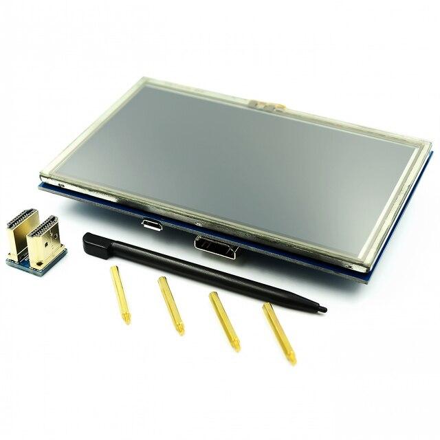 LCD מודול 5.0 אינץ Pi TFT 5 אינץ מגע Resistive מסך 5.0 אינץ LCD חומת מודול HDMI ממשק לפטל pi 3 +/B +/2B