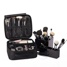 Travel Cosmetic Bag Women Waterproof Oxford Multi-Storey Professional Makeup Organizer Portable Cosmetic Storage Box Beauty Case makeup case portable double open aluminum travel cosmetic organizer box makeup train case professional cosmetics bag veninow