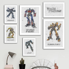 Autobots Optimus Prime Bumblebee Ironhide Nordic Posters And Prints Wall Art Canvas Painting Child Pictures For Living Room