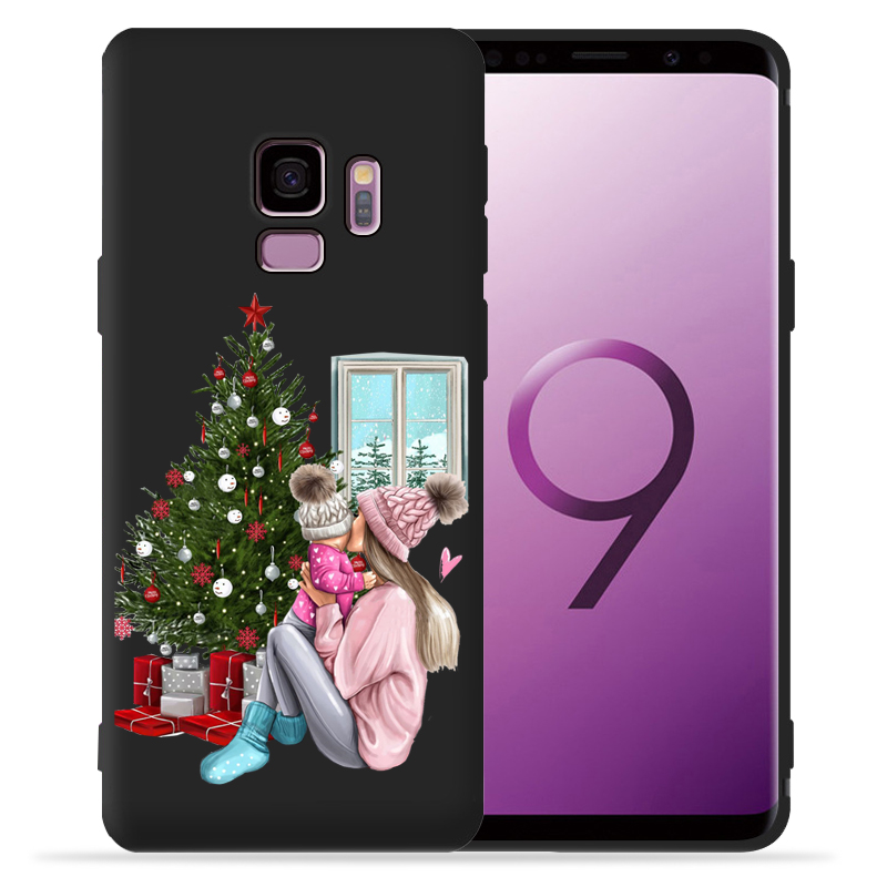 Family Mather Dad Baby Christmas Phone Case For Samsung Galaxy S9 S8 S10 Plus S7 S6 Edge S10 Lite Note9 8 10 Pro Cover Etui