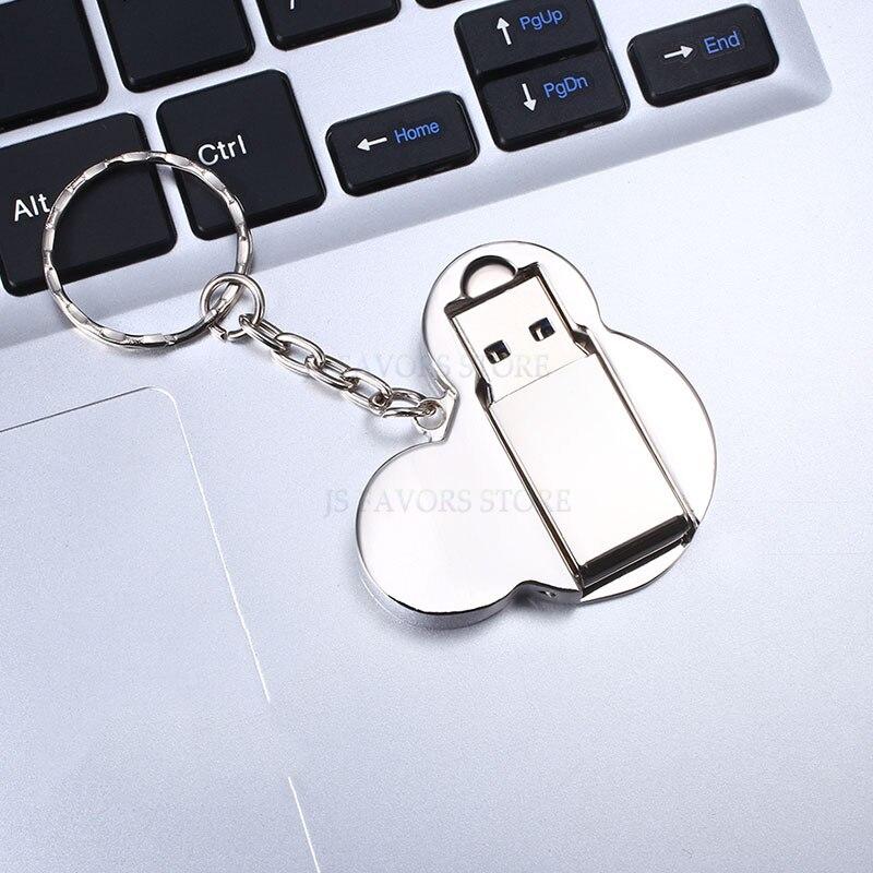 Livraison gratuite 2 pièces 119GB USB flash disque logo personnalisé saint valentin mariage mariée douche faveurs entreprise réunion cadeau d'anniversaire - 3
